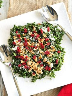 Chopped Kale Salad with Cranberries, Feta, and Walnuts Recipe on Yummly
