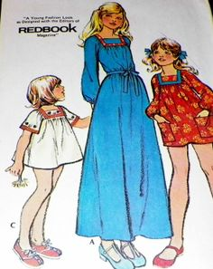 Sewing Pattern UNCUT Children Girls Dress by hookandneedlepattern, $8.00