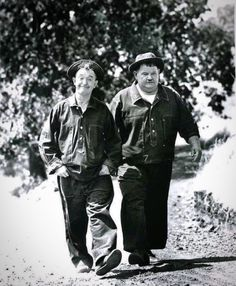 +++Stan Laurel and Oliver Hardy Laurel And Hardy, Stan Laurel Oliver Hardy, Hollywood Stars, Classic Hollywood, Old Hollywood, Hollywood Icons, Great Comedies, Classic Comedies, Denim Pullover