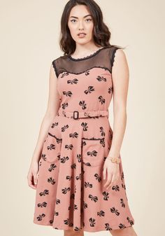 Effie's Heart Blogging Molly A-Line Dress in Bows | ModCloth