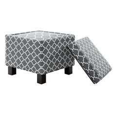 Madison Park Shelley Square Storage Cube Ottoman & Reviews | Wayfair