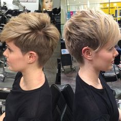 Undercut Pixie For Thin Hair
