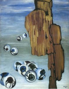 Toyen - Zbytky noci 1934/91x72 cm