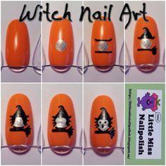 Witch Nail Art Tutorial - Little Miss Nailpolish