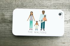 Custom Family Iphone Case by mylittlebuffalo on Etsy