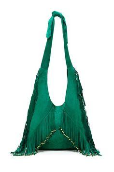 emerald fringe bag. OMG I WANT