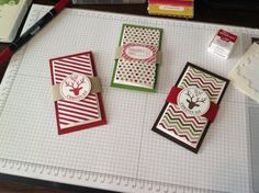 Gift card holder...by Pam Morris.  Uses a regular envelope to hold gift card.  She gives step by step instructions!