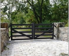 Wood Post and Rail Automated Gate