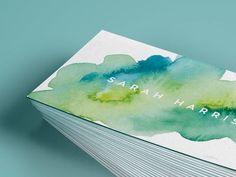 Watercolour Business Cards by FALCON - Dribbble