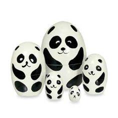 Wood Nesting Doll - Panda. #Nesting Doll obsessed