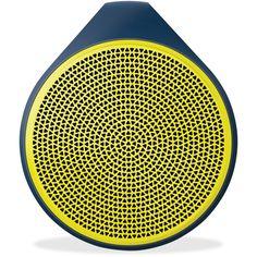 Logitech X100 Mobile Wireless Speaker, Yellow/Blue