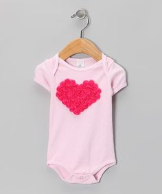 Look what I found on #zulily! Fuchsia & Pink Floral Heart Bodysuit by Truffles Ruffles #zulilyfinds