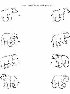 Preschool Worksheets, Preschool Activities, Free Worksheets, Emotions Preschool, Penguins And Polar Bears, Polo Norte, Polar Animals, Bear Crafts, Book Themes