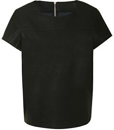 True Decadence Faux Leather T-Shirt, Black on shopstyle.co.uk