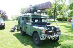 """Jim and Ann Rolstonof Connecticut have a beauty of an overland vehicle.  This 1968 Land Rover Series Ambulance sees its fair share of action and  although it is over forty years old it is still a reliable work horse. This  past winter they traveled to Maine for the Winter Romp Event ( http://www.winterromp.org).  Check out the photos to see many of the custom features that they have put  on this vehicle. I especially like all of the """"creature comforts"""" of the  cockpit area."""