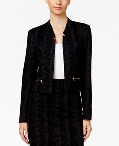 62.99$  Watch now - http://vitch.justgood.pw/vig/item.php?t=0wlow512502 - Flocked Jacquard Open-Front Blazer