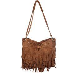 Hot Sale Faux Suede Fringe Tassel Shoulder Bag Women Drawstring Messenger Bag Soft PU Leather Handbag Vintage Casual Bag Bolsas