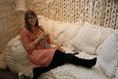 Foreclosure inspires Kalamazoo artist to knit herself a 'safe house' | MLive.com