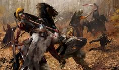 Dacians attacking the Roman cavalry. Military Art, Military History, Ryse Son Of Rome, Imperial Legion, Valhalla, Tribal Images, Ancient Armor, Roman Warriors, Celtic