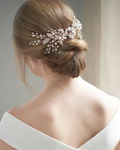 Rose Gold Bridal Comb, Pearl Bridal Hair Comb, Wedding Hair Comb, Bridal Comb, Hair Accessory, Brida