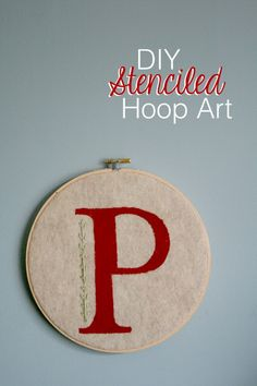 DIY Stenciled Hoop Art - PRETTY PROVIDENCE