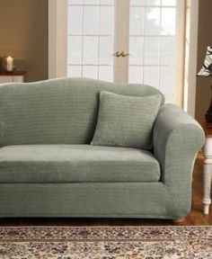 stretch loveseat slipcover 2 piece 95 polyester plush relaxing material fit