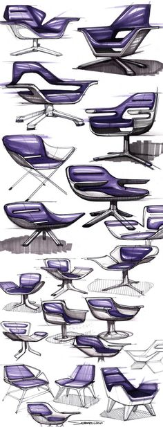 SKETCHBOOK -- really shows the evolution of design ideas in creating these mid-century chairs. SKETCHBOOK -- really shows the evolution of design ideas in creating these mid-century chairs. Sketch Design, Design Art, Design Ideas, Croquis Architecture, Sketching Techniques, Industrial Design Sketch, Sketch Markers, Marker Drawings, Interior Sketch