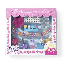 Grils will just love this beautiful Princess Nail Set! A great present for girls who love princesses!