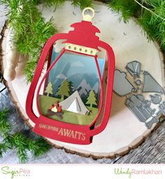 Adventure Awaits 3D lantern card by Wendy Ramlakhan for Sugar Pea Designs