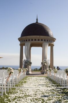 Beautiful domed gazebo overlooking the ocean