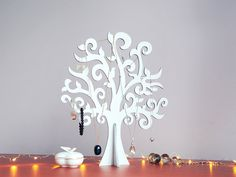 Modern Big White Jewelry Tree, New Year Tree, Wishing Tree, Jewelry Hanger for necklaces and bracelets
