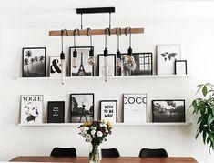 Wall Frames : How russir ? Living Room Inspiration, Frames On Wall, Home Interior Design, Home And Living, Home Furnishings, Living Room Decor, Dining Room, Diy Home Decor, Wall Decor