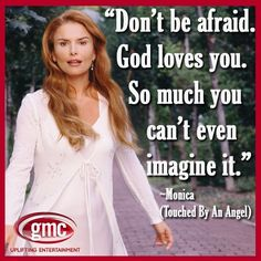 """~ Monica (Roma Downey)  from """"Touched By an Angel"""""""