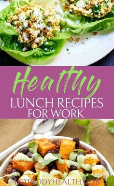 21 Healthy Lunch Recipes for Work that are Easy to Make - HBI Labs Inc Best Lunch Recipes, Dinner Recipes For Kids, Healthy Dinner Recipes, Family Recipes, Easy Recipes, Easy Meal Prep, Easy Meals, Health Snacks, Women's Health