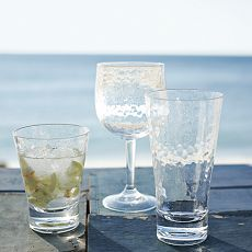 Hammered-Acrylic Glassware Set