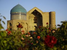 The Mausoleum of Khoja Ahmed Yaswi, a distinguished Sufi master of the 12th century, is situated in southern Kazakhstan, in the north-eastern section of the city of Turkestan (Yasi). Built between 1389 and 1405, by order of Timur (Tamerlane), the ruler of Central Asia, it replaced a smaller 12th century mausoleum.