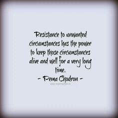 Pema Chodron quote. http://www.betterlisten.com/collections/pema-chodron