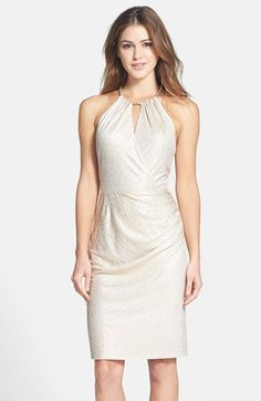 Laundry by Shelli Segal Metallic Jacquard Sheath Dress @ Nordstrom - great cocktail dress.