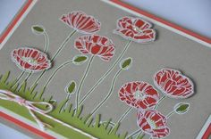 Carte coquelicot Stampin Up