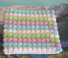 Hand crochet bobble stitch cotton dish cloth 7 x 7.5 by LandLCandlesandCraft on Etsy