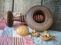 Vintage Nut Cracker Wooden Nut Cracker French by OLaLaVintage, $15.00