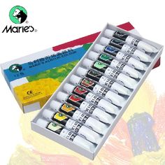 Maries DIY hand-painted acrylic paints children Graffiti Wall painting painted acrylic stone 12 color set