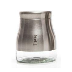 Červená dóza na čaj Sabichi Tea, 700 ml | Bonami Tea Jar, Sugar Jar, Cocktail Shaker, Petra, Barware, Salt, Stainless Steel, Products, Salts