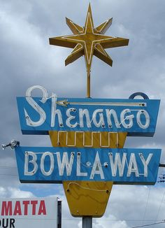 I pass this sign every time I travel to visit a friend of mine.  It is FABULOUS. Shenango Bowl-A-Way New Castle, PA by Seth Gaines, via Flickr  Copyright 2006 Seth Gaines