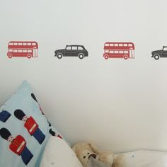 LONDON BUS & TAXI WALL STICKERS by Nutmeg Wall Art Stickers