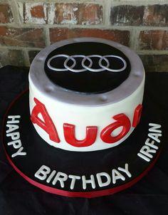 Audi Cake by Max Amor Cakes. - Cars and motor Audi Cake, Audi Torte, Ipad Cake, Ring Cake, Birthday Cake Decorating, Cakes For Boys, Cake Tutorial, Perfect Party, Beautiful Cakes