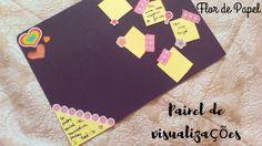 Flor de Papel: Painel de visualizações- diy+como funciona