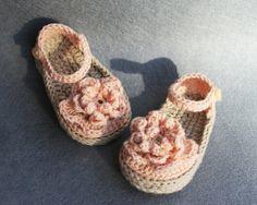 Crochet Baby Girl Espadrilles; Alpargatas Bebe Niña de Crochet