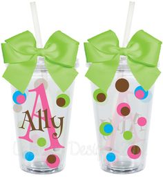 Monogrammed Initial Personalized 16oz  Acrylic