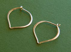 Small sterling silver lotus petal hoops by jersey608jewelry, $18.00